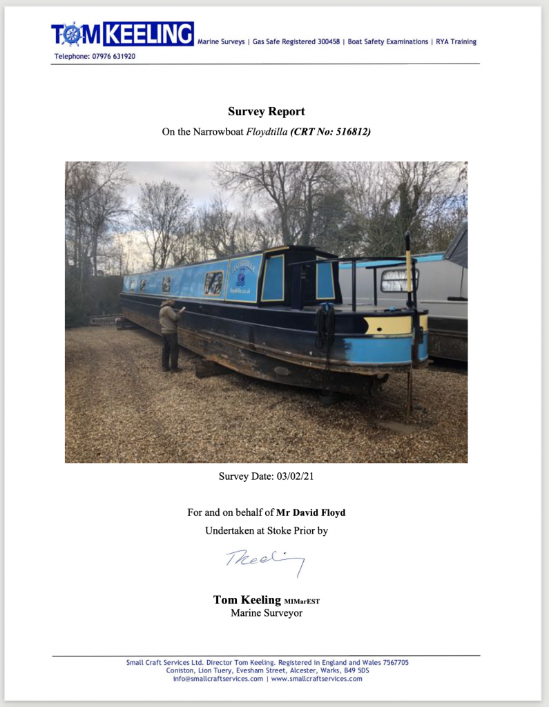 Small Craft Services Survey Report