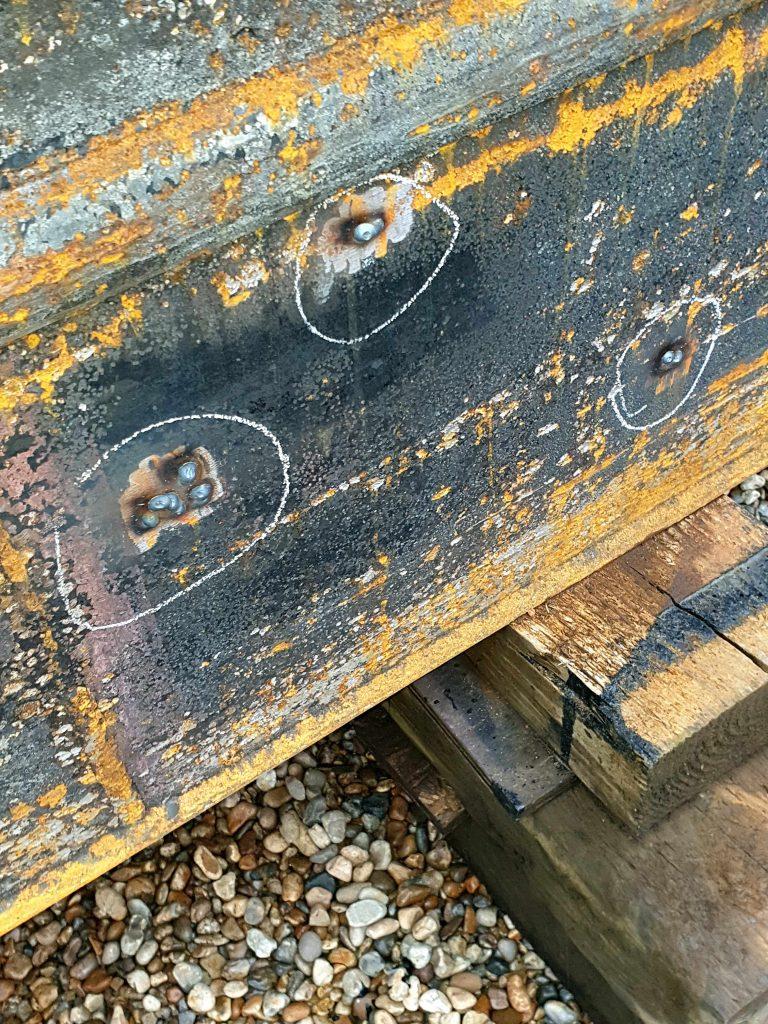 Hull welding repairs